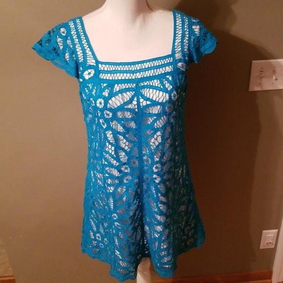 Betsey Johnson Dresses & Skirts - Blue Capped Sleeve Betsy Johnson Dress